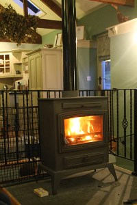The wood burner - Boscrowan Farm - Family Friendly Award Winning Self Catering Holiday Cottages