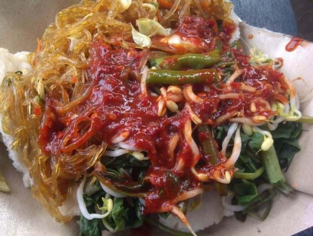 Makanan Khas Cirebon Rujak Kangkung