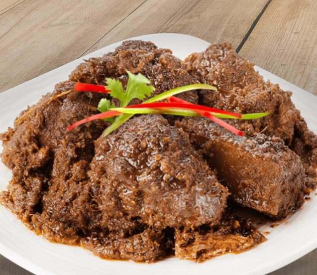 Makanan Khas Riau Bacah Daging
