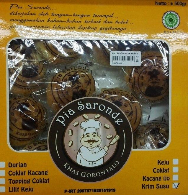 Makanan Khas Gorontalo Kue Pia Saronde