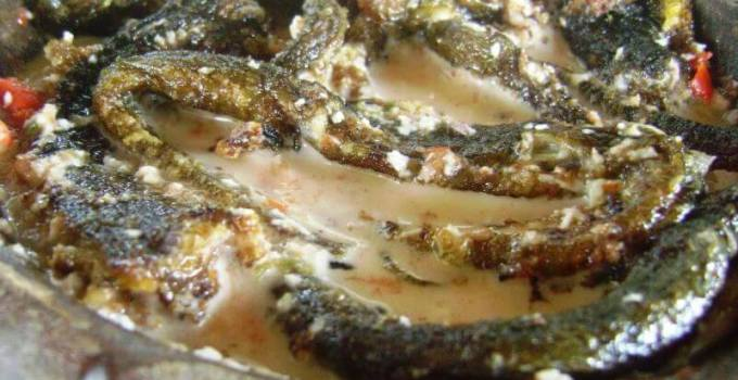 makanan khas pemalang belut goreng