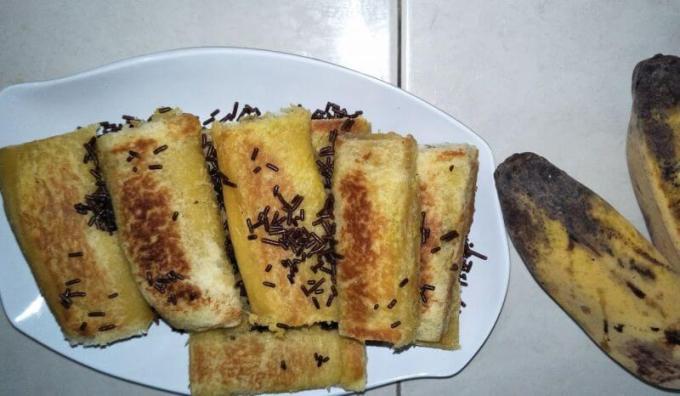 Resep Roti Tawar Gulung Isi Pisang