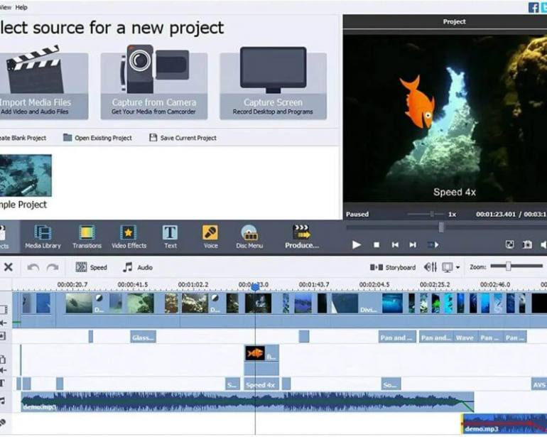 Aplikasi Edit Video PC AVS Video Editor