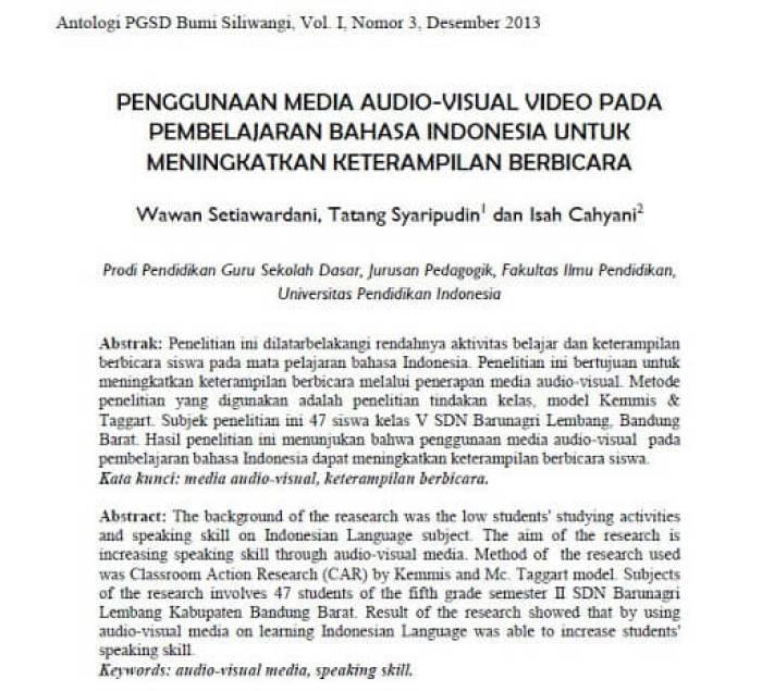 Contoh Artikel Pendidikan Bahasa Indonesia - bosmeal.com