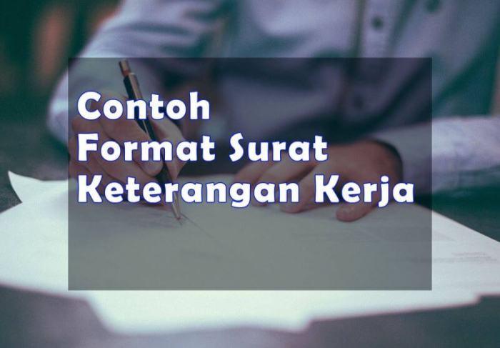 Contoh Format Penulisan Surat Keterangan Kerja - Bosmeal.com