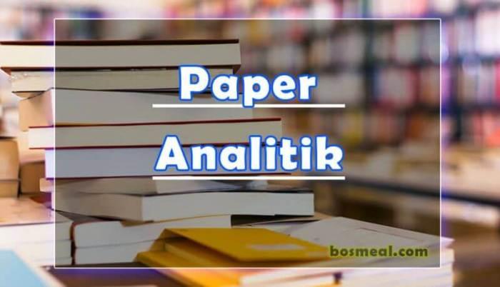Jenis Paper Analitik