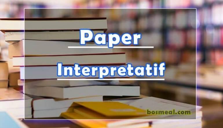 Jenis Paper Interpretatif