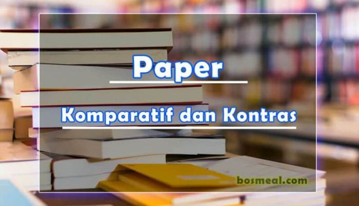 Jenis Paper Komparatif dan Kontras