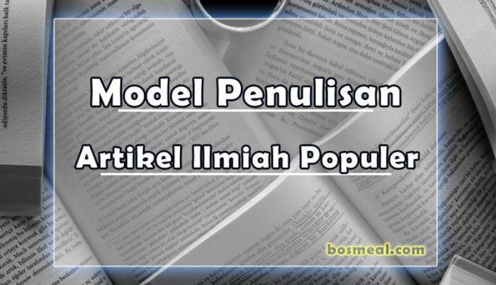 Model Penulisan Contoh Artikel Ilmiah Populer - Bosmeal.com