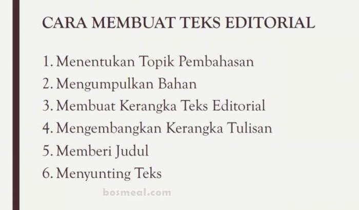 Contoh Teks Editorial Cara Membuat Teks Editorial