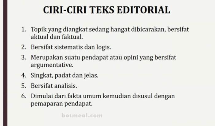 Contoh Teks Editorial Ciri ciri Teks Editorial
