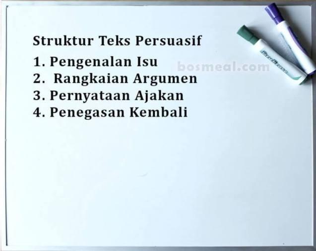 Contoh Teks Persuasif Struktur Teks Persuasif