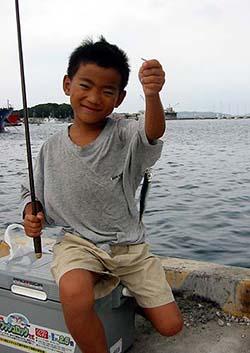 イワシ釣り