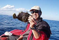 インフレータブルボートの釣りでカワハギ