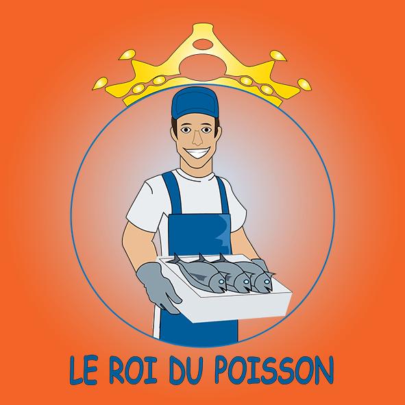 LOGO LE ROI DU POISSON par Boss Arts