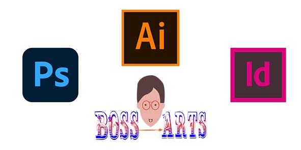 Logo Adobe Photoshop, InDesign, Illustrator par Boss Arts