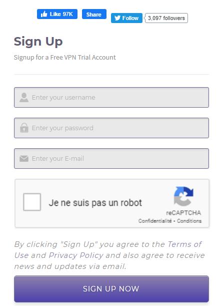 Comment ouvrir un compte DroidVPN Etape 1 par Boss Arts