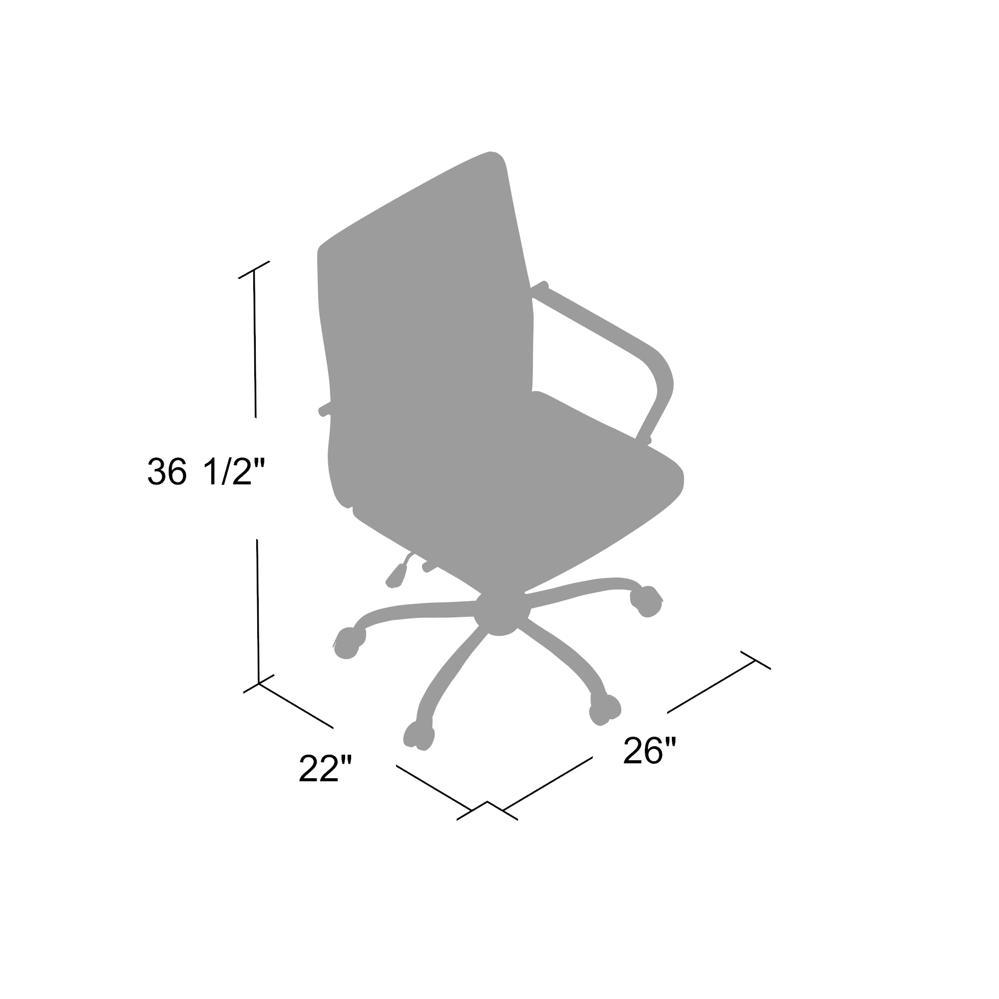 Boss Retro Task Chair With Chrome Fixed Arms Bosschair