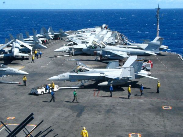 Flight Deck of the USS Ronald Reagan
