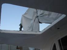 Pilot hatch being fibreglassed