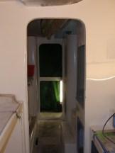 Starboard hull with fairing complete around doorways