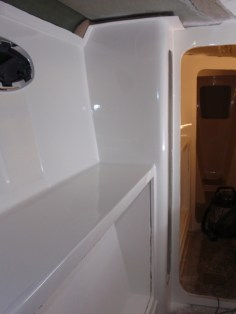 Inside the s'bd hull, polished midships
