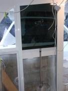 Aluminium frames with white powder coating