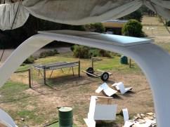 Solar panels installed on targa