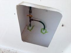 Gas sealed in the cockpit locker