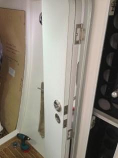 Door fixtures going on