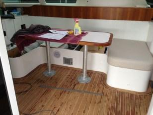 Our teak & corian table