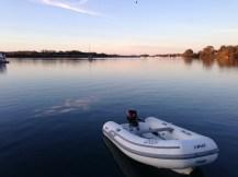 Anchored near Laurieton.