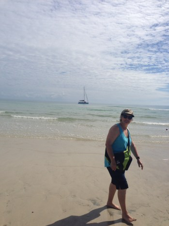 Beautiful white sand of Fraser Island.