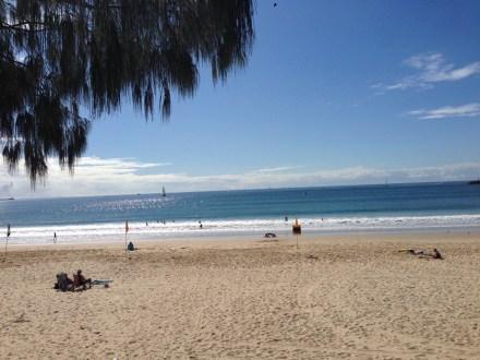 Mooloolaba beach right near our marina