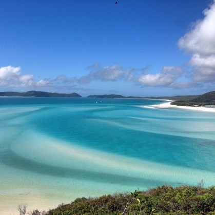 Whitehaven Beach from the Lookout.