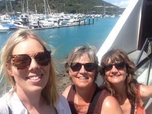 Three of us at Hamilton Island