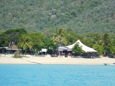 Montes Resort as we sail in