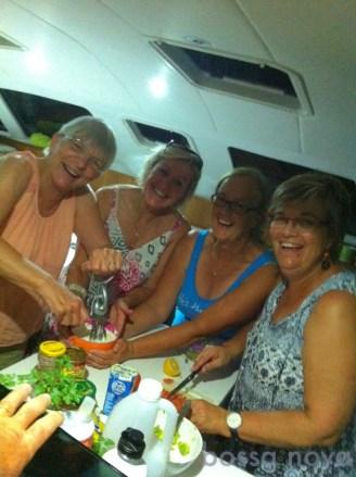 Group nachos at Horseshoe Bay, Magnetic Island. Chris, Louise, Annie & myself.