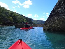 Kayaking in Butterfly Bay with the 'killer March flies'
