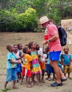 Hugh from Sans Souci enjoying the village kiddies.