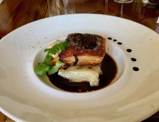 Pork Belly at Freshwater Plantation ... a far cry from our ni-Van village meals!