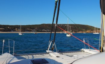 Arriving at Middle Percy Island. Counted 32 yachts by the evening!