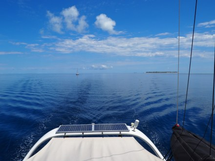 Leaving Heron Island with TIE following.