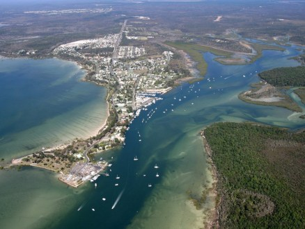 Tin Can Bay aerial photo. Don't you just love that name!