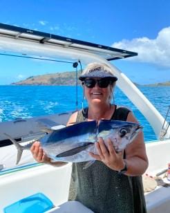 A yellowfin tuna!