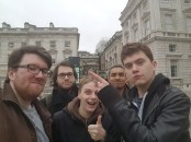 Team Swalex + Harry visits Somerset House. It was incredibly cold and we learnt that Harry was somewhat scared of heights (they have 2 story pits around the courtyard for some reason.