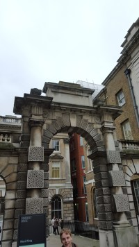 An archway in the north-west corner of Somerset House. We were not allowed to enter the West Wing area at all.