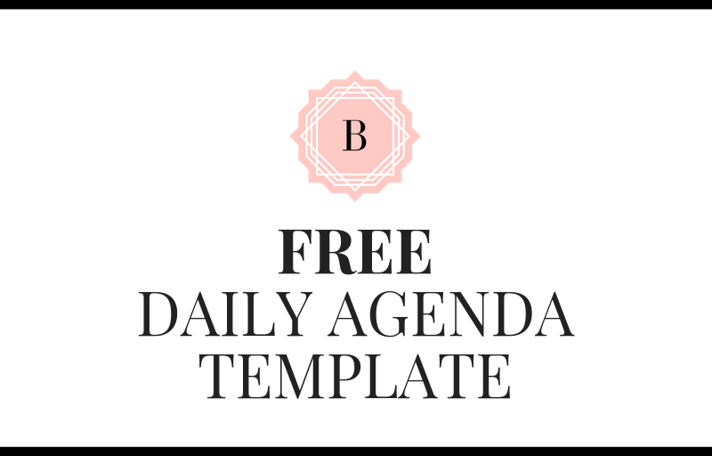 *FREE* Daily Agenda Download