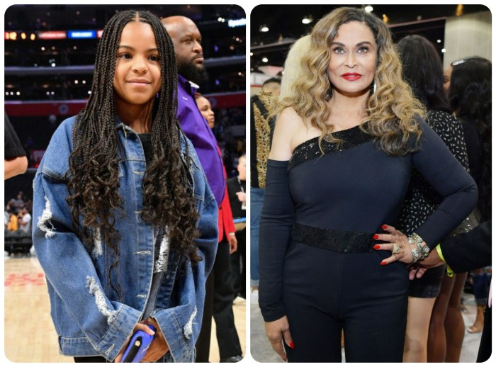 Blue Ivy and Tina Knowles Lawson