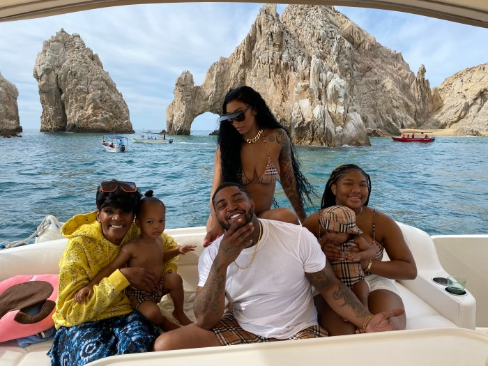 Bambi and Scrappy vacation with their kids Emani, Breland and Xylo and Momma Dee at Garza Blanca Los Cabos
